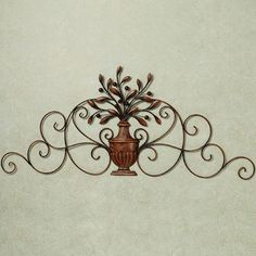 Cantabria Branch Urn Metal Wall Grille