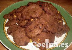Receta: cookies de chocolate > http://www.blogcocina.es/2012/09/17/receta-cookies-de-chocolate/