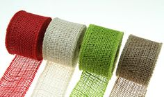 Available in multiple colors - Burlap Ribbon