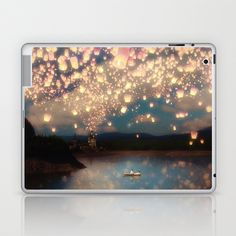 Love Wish Lanterns Laptop & iPad Skin by Paula Belle Flores - $25.00