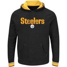 Pittsburgh Steelers Majestic Big & Tall Championship Pullover Hoodie - Black