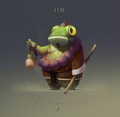 #toad #frog #digitalpainting Drunken Toad on Behance