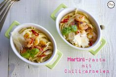 Martini-Pasta mit Chiligarnelen
