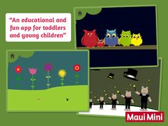 Maui Mini App Educational Games designed for young children.