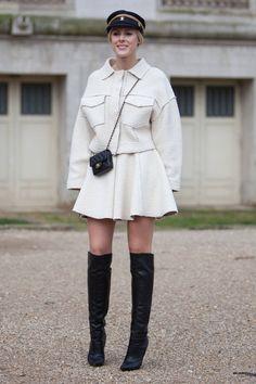 Street Style Paris Fashion Week - Street Style Photos from PFW - Elle #EZONEFASHION