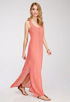 Crochet-Paneled Maxi Dress | Forever 21 - 2049258622