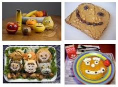 Don't make Saturday Fatter Day make it lean! Lots of Healthy Food Art Kids Will Sink Their Teeth Into! #moms #dads