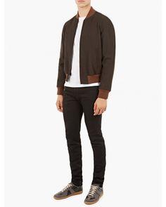 525€ Maison Margiela | Multicolor Black Zip-detail Skinny Jeans for Men | Lyst