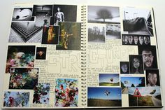 AS Photography, A3 White Sketchbook, Brainstorm, ESA Theme Relationships, Thomas Rotherham College, 2014-15