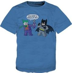 Batman - Lego Joker Vs Batman Youth T-Shirt  #LEGO #Batman #Joker #T-Shirt $22.89 Joker Comic, Comic Art, Lego Store, Lego Birthday, Lego Batman, Sewing For Kids, Cool Stuff, Kid Stuff, Comics