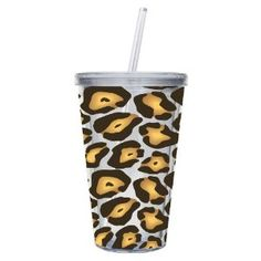 Cypress Home Insulated Cup With Lid and Straw, Leopard: Kitchen & Dining Cheetah Print Party, Leopard Print Outfits, Girly Things, Things I Want, Random Things, Tumblr Cup, Smoothie Cup, Insulated Cups, Leopards