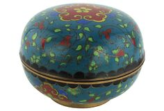 Antique Covered Cloisonné Box by Ruby + George on @One Kings Lane #vintageandmarketfinds #vintage #homedecor #decor #cloinsonne #chinese #trinketbox