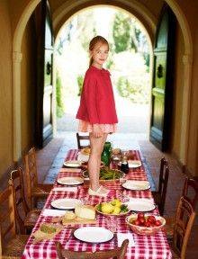 """""""In this image: Jacket (2COB53390); Dress (5B87LQ440); Shoes (8V4BC070J). Spring 2013 United Colors of Benetton Kid and Tween collection."""""""