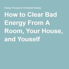 How to clear negative energy with epsom salts cleanse Cleansing bad energy from home