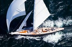 "In 1937 the super J-class yacht ""Endeavour II"" was built in steel to battle the J's in the America's Cup Race, maximizing the waterline to 87ft she challenged ""Ranger"" but did not beat her. The original Endeavour II was scrapped in 1968.  It was then recreated in 2009, built in aluminium, and named Hanuman."