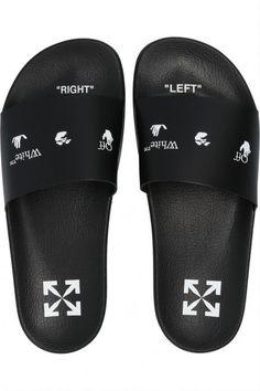 Tm Logo, Rubber Sandals, Fresh Shoes, 20th Birthday, Slide Sandals, Off White, Dust Bag, Flip Flops, Color Black