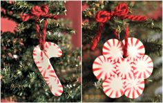 Take peppermints and melt them into molds for cute and scented ornaments