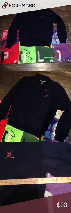 🔥 🏇 Polo Golf Quarter Button Jacket Navy Large Dope polo golf embroidery on left chest.  Polo Golf on the inseam of quarter button. Two pockets with a tapered type fit for the bottom. * Paintings Not Included* Comment if you would like a digital prints of polo painting!* Ralph Lauren Jackets & Coats Performance Jackets