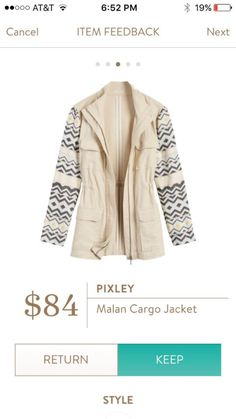 My new unicorn - this jacket looks like the perfect jacket for spring and summer! Stitch fix always deliver!