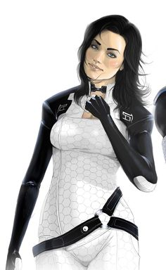 """georgialeflayart: """" Miranda is my babe. This is quite an old picture and originally had Kaidan in the shades beside her, you can still see his shoulder, but fuck me it looks better without. Mass Effect Characters, Mass Effect Games, Mass Effect Art, Female Characters, Mass Effect Miranda, N7 Armor, Miranda Lawson, Mass Effect Universe, Sr1"""