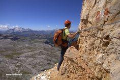 Alta Via Fanis - Cengia Veronesi - Dolomites - Italy  http://www.ladinia.it/tours
