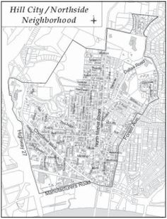 The modern boundaries of Hill City in North Chattanooga Copyright © Hill City/Northside Neighborhood Plan North Chattanooga is one o. Downtown Chattanooga, Hill City, Old Maps, City Photo, The Neighbourhood, Hunting, House, The Neighborhood, Antique Maps