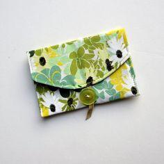 Business Card Case  Business Card Holder Fabric by TwiggyandOpal, $7.25