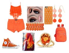 """Color Challenge Orange"" by bubbles-177 ❤ liked on Polyvore featuring WearAll, Converse, Juicy Couture, Castello, Liz Claiborne, Casetify, Kipling, Kobelli, women's clothing and women"