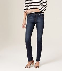 Goop Recommends Primary Image of Modern Straight Leg Jeans in Vintage Mid Indigo Wash