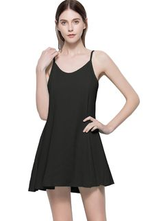 cd3677945bf5 HELYO Womens Chiffon Cocktail Party Dresses Scoop Neck Backless Spaghetti  Straps Sexy Summer Casual Summer Beach