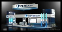 NetScout - Concept for a 30 x 50 exhibit space.