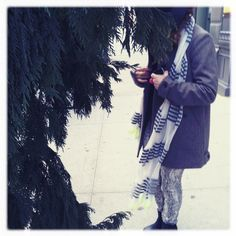 Perfect winter scarf styling.