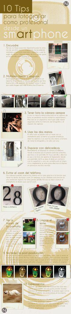 10 consejos para hacer fotografías con tu teléfono #infografia