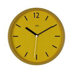 Wall Clock 30cm - English Mustard