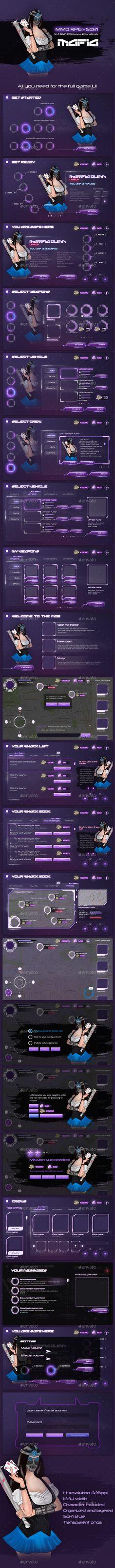 MMO RPG - Full Mafia Game UI - User Interfaces Game Assets
