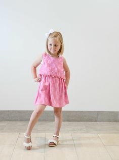 Pretty in Pink Pom Pom Embroidered Dress for Girls - Liza Byrd Boutique