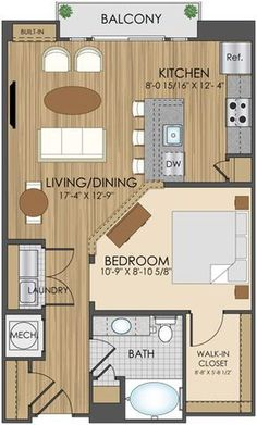 guest house floor plans of hidden creek apartments in 750 sf would be nice floor plan for a little house