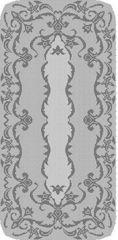 ru / Фото - pp - ergoxeiro tablecloth crochet filet Filet Crochet Charts, Crochet Doily Patterns, Crochet Borders, Crochet Motif, Crochet Doilies, Crochet Stitches, Cross Stitch Patterns, Crochet Table Runner, Crochet Tablecloth