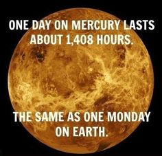 Days on Mercury and Earth.