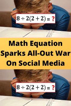 Math #Equation #Sparks All-Out War On #Social Media