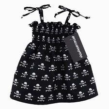 Skully sundress alternative goth punk rock metal baby clothes