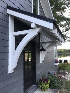 We proudly offer the Ekena Millwork 3 W x D x H Thorton Traditional Smooth Bracket, Douglas Fir Front Door Awning, Porch Awning, Metal Awning, Outdoor Window Awnings, Patio Awnings, Front Entry, Portico Entry, Unique Front Doors, Porch Overhang