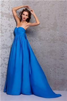 Gorgeous A Line Sweetheart Watteau Train Miriamas Evening Party Dress
