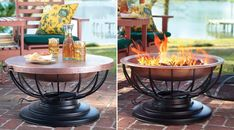 This beautiful solid hammered copper fire pit will make an elegant focal point in your garden. When not in use, it can be converted to a side table thanks to the included fitted copper lid. A mesh spark guard and a matching poker in a weatherproof black finish are also included. Where to buy $399.95 …