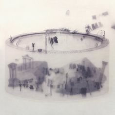 Faith is Torment | Art and Design Blog: Transparent Collage on Glass by Tang Kwok-hin