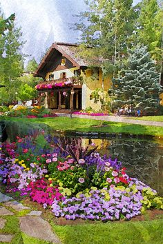 Garden Profusion at the Sun Valley Resort by Amy G Taylor