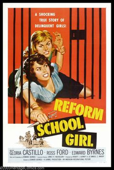 "Movie Posters:Bad Girl, Reform School Girl (American International, 1957). One Sheet (27"" X41""). When a teenage girl's boyfriend steals a car and i..."