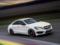 This is the 2014 Mercedes CLA45 AMG