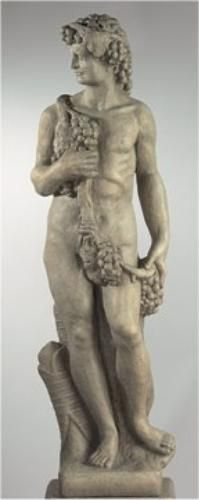 Bacchus Life Size Cement Statue The God Of Wine, Is A Statement For Your  Home Or Garden. Bacchus Was Also The Roman God Of The Woods.