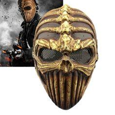 Spine Tingler Skull Skeleton Army Airsoft Paintball Gun Full Face Game Protect Safe Mask